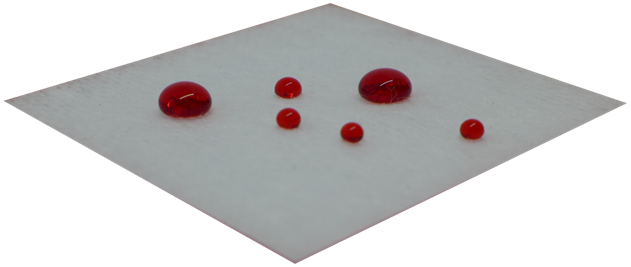 Hydrophobic SiOx on medical dressing