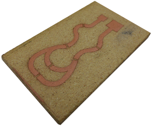 Conductive Cu layer on wood